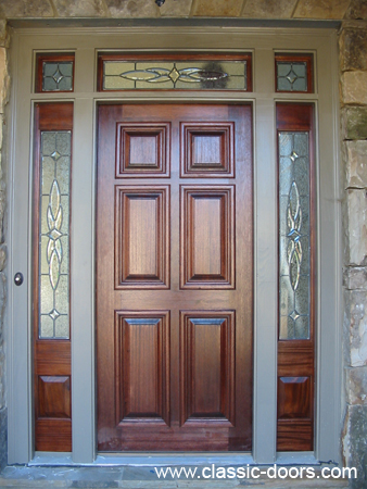 Mahogany Door with Beveled Glass Image