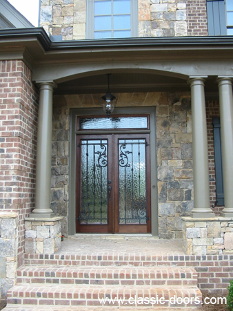 Solid Mahogany Front Entry Doors and Garden Tub Windows with ...